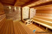 Kamenný portál v sauně